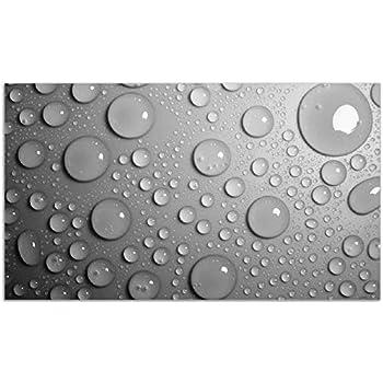 Bambustrieb schwarzen Steinen Herdabdeckplatte 2-teilig aus Glas 60x52cm