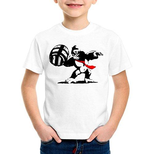 style3 Graffitismo Kong T-shirt per bambini e ragazzi donkey pop art banksy geek snes wii u nerd gamer, Dimensione:140
