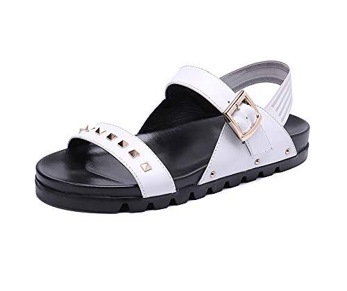 Shoes sandali infradito in pelle da uomo eleganti sandali regolabili al tatto allacciano comfort sandali sportivi traspiranti all'aperto per il tempo libero pantofole cinghie escursionismo,eu40