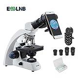 ESSLNB Binokulares Mikroskop 40X-2000X mit Immersionsöl Handy Adapter und Objektträger
