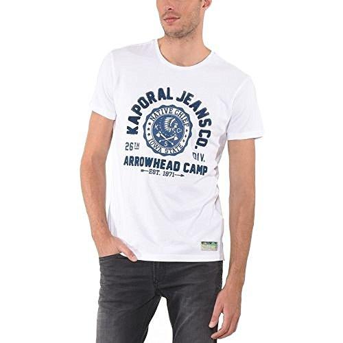 Kaporal -  T-shirt - Collo a U - Maniche corte  - Uomo bianco XL