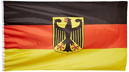 MM Deutschland Fahne/Flagge mit Adler, mehrfarbig, 250 x 150 x 1 cm, 16115 -