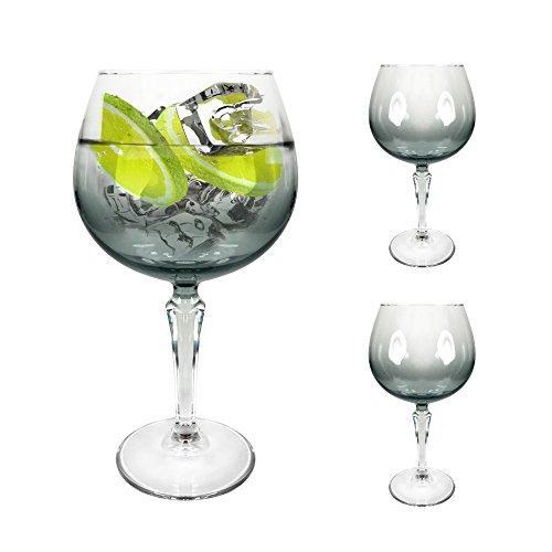 Ginsanity [Speakeasy Platinium groß [585 ml] Copa Glas Gin und Tonic [G&T] Balloon Gläser Für Cocktails und Geschenkbox - Packung Mit 2 Stück Safedge Rim