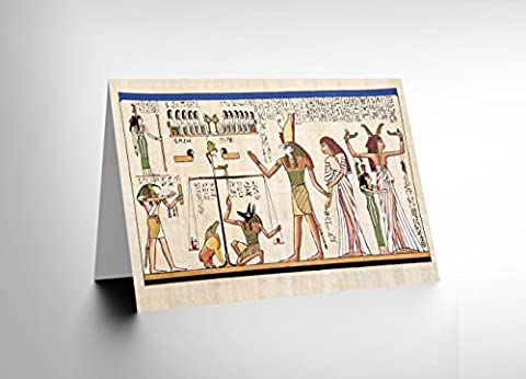 PAINTING ANCIENT EGYPTIAN HEIROGLYPHICS HORUS MURAL GREETINGS CARD CL1130