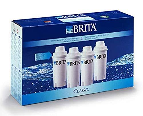 BRITA Filterkartuschen Classic im 3er Pack - Filterkartuschen für ältere BRITA Wasserfilter zur Reduzierung von Kalk, Chlor & geschmacksstörenden Stoffen im Leitungswasser