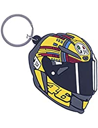 GCT Single Sided 46 The Doctor Helmet Valentino Rossi Bike Racer Rubber Keychain For Car Bike Keys