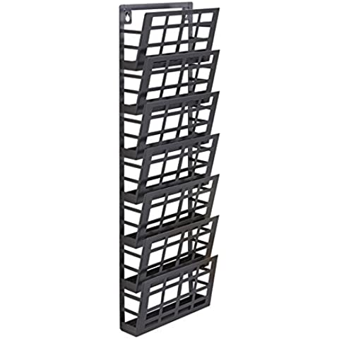 Safco - Espositore a griglia con 7 tasche formato A4
