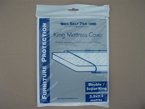 MATTRESS COVER Double / King / Superking for Moving or Storage (Large Polythene bag). It is manufactured to the standard required by Removal Companies and is sufficiently strong for normal use.