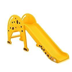 Baby Vivo 34534807 Kinder Rutsche Kunststoff Giraffe abgerundete Ecken und Kanten für Indoor und Outdoor in Gelb