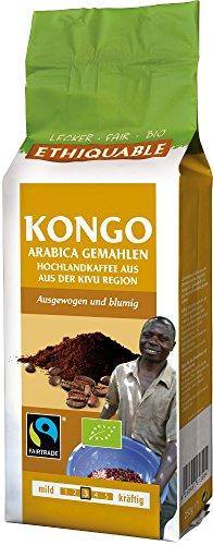 ETHIQUABLE Kongo Bio-Kaffee, gemahlen, 250g