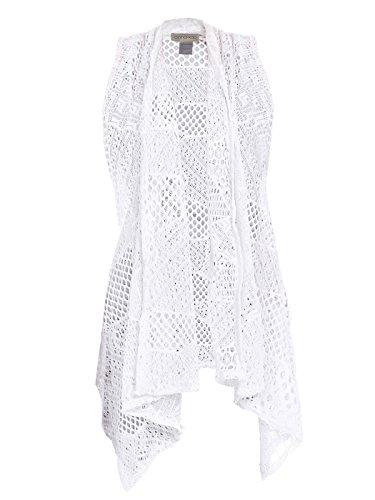 fnen Crochet Ineinander greifen-Weste Hem Sleveless Schal Strickjacke-Vertuschung (Adult Kleine Mädchen-kleid)
