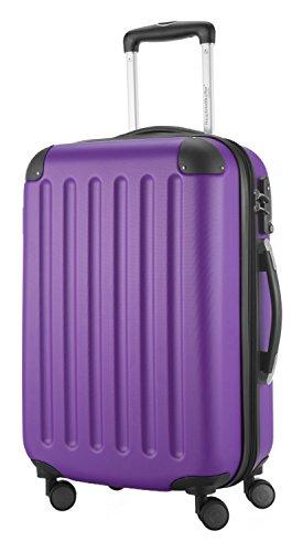 SALE% HAUPTSTADTKOFFER® Hartschalen Koffer SPREE 1203 · 3 Koffergrößen (49Liter · 82Liter · 128Liter) · MATT · TSA Zahlenschloss (49 Liter, Violett)