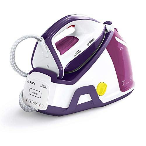 Bosch tds6530 Série I 6 easycomfort - Centre de repassage, 2.400 W, 6,5 Bars, avec 420 G de itemp, technologie itemp, Mode Eco, Blanc, Violet et Violet