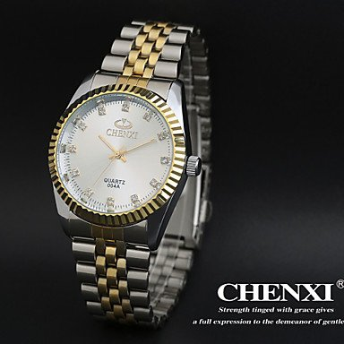 XKC-watches Herrenuhren, Elegantes Design Kleid chenxi Herrenuhren Japanische Quarzwasserdicht Stahlband (Farbe : Weiß)