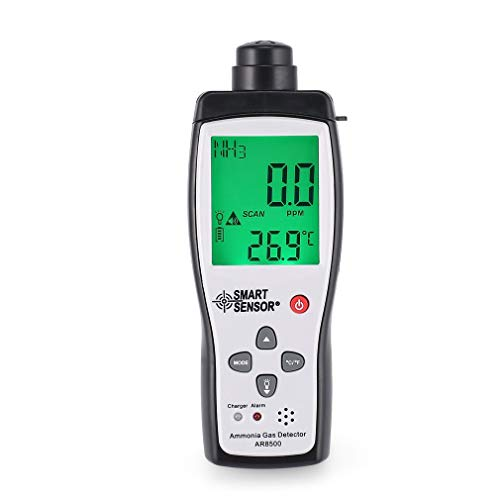 LeoboodeSmart Sensor AR8500 Air Quality Monitor Gas Meter Ammonia Temp Detector Analyzer Handheld Tester Temperature Thermometer -