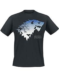 Game of Thrones Stark von Winterfell T-shirt noir