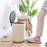 Hyzb Edelstahl Pedal 8L Mülleimer Kreative Europäischen Stil Mülleimer für Küche Wohnzimmer Badezimmer Schlafzimmer WC
