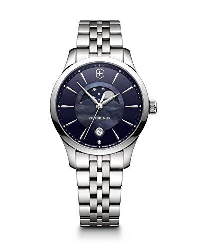 Victorinox Damen Analog Quarz Uhr mit Edelstahl Armband 241752