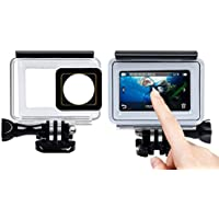 QuikProf 40m Underwater Waterproof Back Protective Housing Case Cover for Yi 2 II 4K TOUCHSCREEN PANEL
