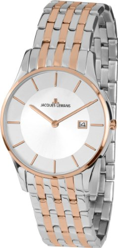 Jacques Lemans Unisex-Armbanduhr London Analog Quarz Edelstahl 1-1781E