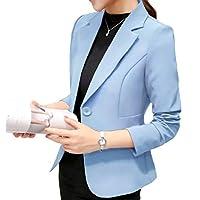 ثوب نسائي ماركة DressU لون نقي مع طية صدر صدر صدر السترة مناسبة لأوقات الفراغ ازرق فاتح US XLarge