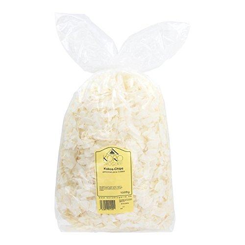 Preisvergleich Produktbild Kokoschips ohne Zuckerzusatz Ungeröstet Trotzdem Knackig Schwefelfrei 1 kg Vorteilspackung KoRo