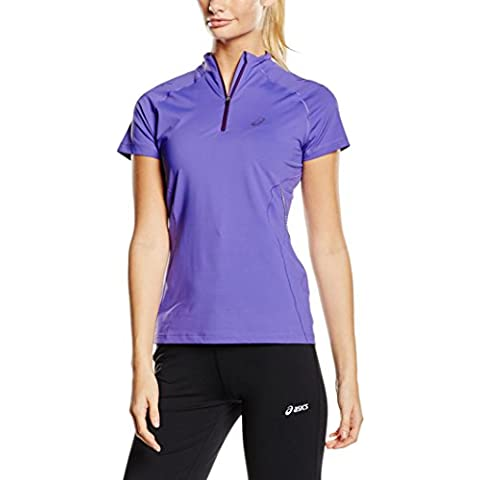 ASICS SPEED Women's Half zip corsa T-Shirt viola (Asics Womens Shirt)