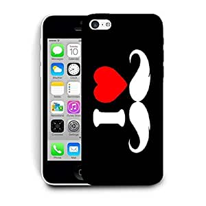 Snoogg I Love Mustache Designer Protective Back Case Cover for Apple iPhone 5C