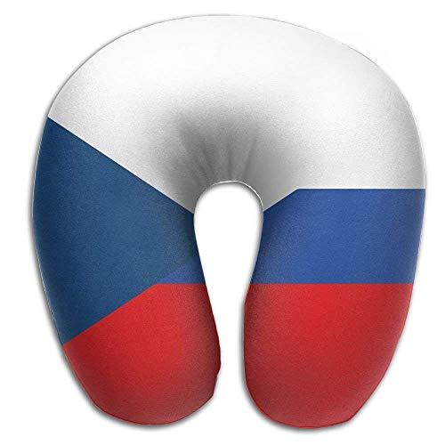 GHEDPO maternité et Corps Flag of Czech Republic and Russia Super U Type Pillow Neck Pillow Outdoor Travel Pillow Relief Neck Pain Oreillers Camping