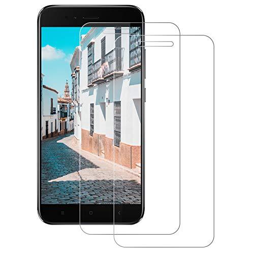 DOSNTO [2 Piezas Cristal Templado Xiaomi Mi A1/5X,[0.3mm]Protector Pantalla Xiaomi Mi A1 [Sin Burbujas] [Anti-Arañazos] [Dureza 9H] [Anti-Huella]-Compatible con Xiaomi Mi A1/5X [Transparente]