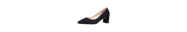 Jamron Mujer Clásico Piel de Carnero Punta Puntiaguda Talón de Bloque Zapatillas Señoras Oficina Uniforme Zapatos... -
