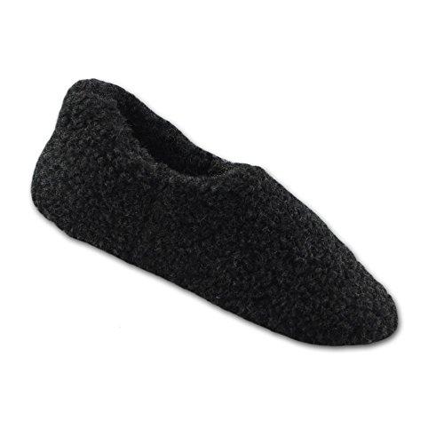 SamWo,Fußwärmer Hausschuhe 100% Schafwolle, Größe: 35-48 schwarz P