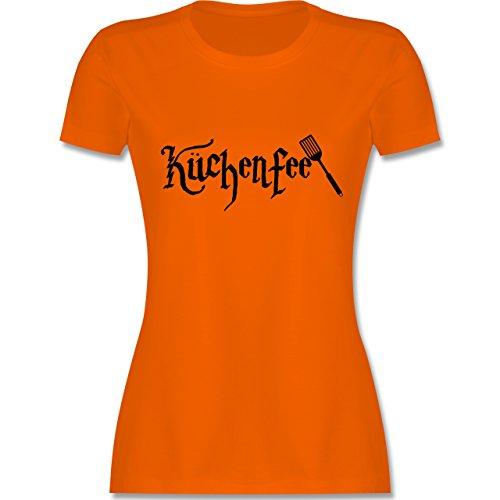 Küche - Küchenfee - tailliertes Premium T-Shirt mit Rundhalsausschnitt für Damen Orange