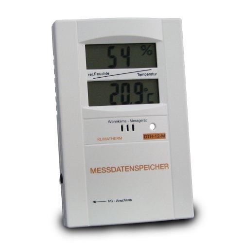 Preisvergleich Produktbild Klimatherm DTH-12-M Wohnklima-Kontrollgerät zur Langzeitkontrolle des Heiz- & Lüftungsverhalten, ohne USB-Adapter (Achtung: Bei Erstbestellung USB-Adapter unbedingt erforderlich)