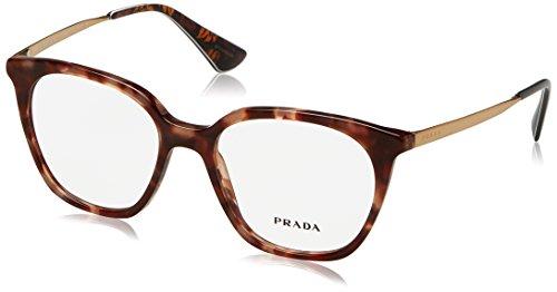 Prada - PRADA CINÉMA EVOLUTION PR 11TV, Rechteckig, Acetat, Damenbrillen, BROWN SPOTTED...