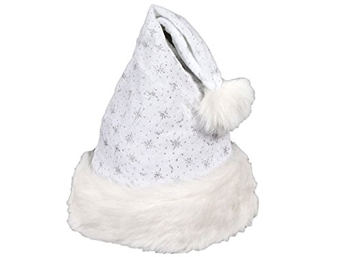 Bonnet père Noêl luxe et trés souple , Weihnachtsmütze wählen:wm-05 weiß