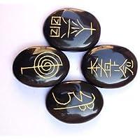 Exklusives Usui Reiki Symbol geschnitzter schwarzer Achat Vier Steine Set Kristall Heilend Wellness Männer Frauen... preisvergleich bei billige-tabletten.eu