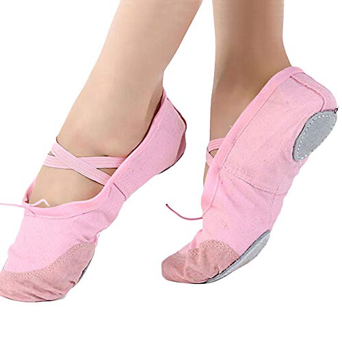 Oliviavan Damen Schuhe Leder Ballerinas Damen Schnürhalbschuhe elegant Freizeitschuhe Yoga Training Tanz Schuhe Damen Klassische Ballerinas Loafers Casual Flach Canvas