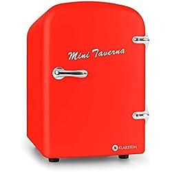 Klarstein Mini Taverna mininevera portátil (4 L de Capacidad, Ligera, asa de Transporte Plegable, refrigeración y Mantenimiento de Calor, Funcionamiento silencioso) - Rojo