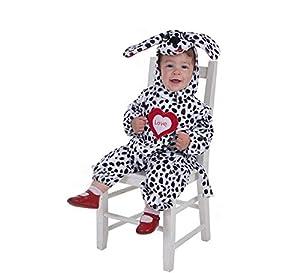 Creaciones Llopis - Disfraz de dálmata para bebe hasta 18 meses, talla única