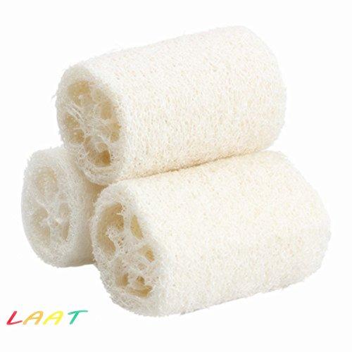 LAAT Esponja luffa exfoliante natural baño, ducha
