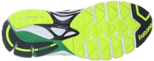 Saucony Mens Ride 6 Running Shoe Gris - Grey/Green/Citron