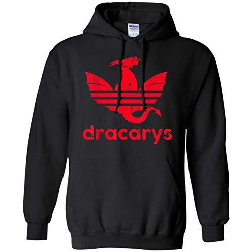 Dracarys T Shirt Geschenk für Männer Frauen Pullover Hoodie für Männer Frauen Idee für Fan Love Game of Thrones, XL -