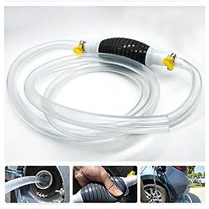 Bomba de mano manual de alto flujo Sifón Bomba de transferencia de combustible del coche manual para gasolina gasolina…