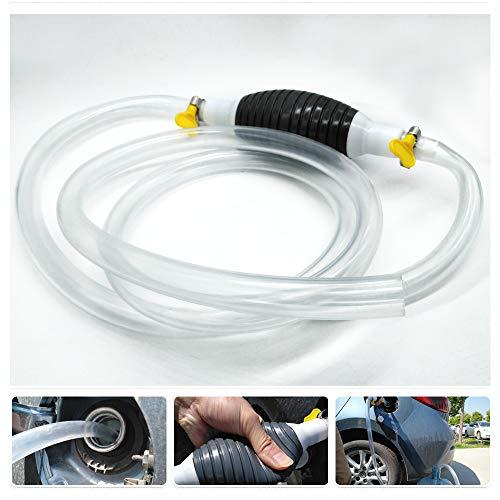 Pompa a mano ad alto flusso Sifone Pompa portatile a trasferimento di carburante per auto Benzina a gas Benzina a gasolio Acqua con tubo a sifone 2M