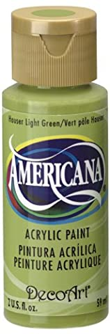 DecoArt Americana 2 oz Acrylic Multi-Purpose Paint, Hauser Light