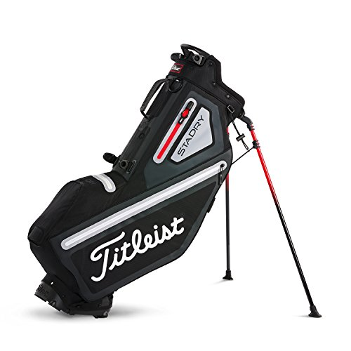 Titleist Players 4 StaDry Bag Golf Clubs, Man, Men, TB8SX3-026, Black red, one size