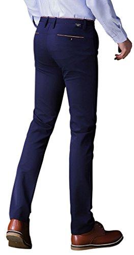 Gillbro Men's Skinny Chino Trousers Marine