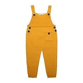Feicuan Kinder Mädchen Latzhose Strick Trägerhose Pinafore Hose mit Hosenträger Baumwolle Overalls Playsuit für 1-5 Jahre