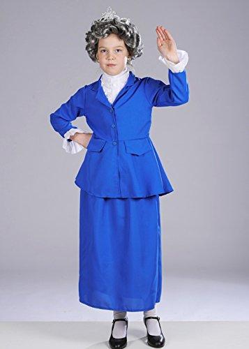 Kostüm Dress Elizabeth Queen Fancy - Magic Box Int. Kindergröße Das Königin Kostüm mit Perücke Small (4-6 Years)